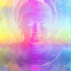bouddha multicolore